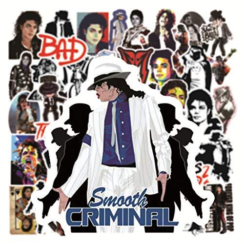 BLOUR 10/50 Uds Cantante de Rock Michael Jackson Graffiti Pegatinas Maleta portátil Casco Impermeable Pegatina calcomanía en Guitarra Maleta Nevera