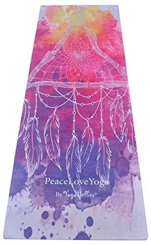 Esterilla PeaceLoveYoga Antideslizante. Alfombrilla para Yoga Profesional, Ecológica de Lujo, de Caucho Natural para Mujeres.