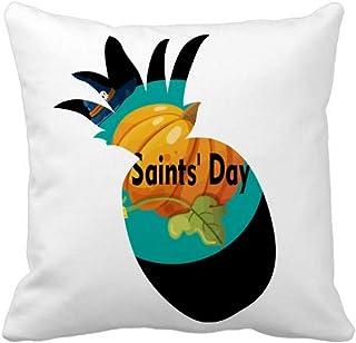 OFFbb-USA All Saint Day Candy Happy Pineapple - Funda cuadrada para almohada