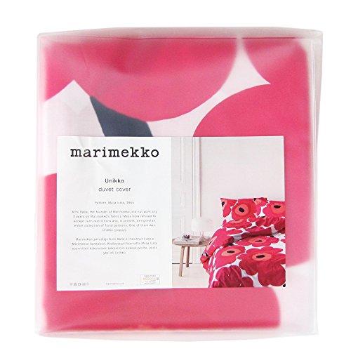 Marimekko Unikko - Funda nórdica de color rojo, 150 x 210 cm