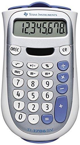 Texas Instruments TI-1706SV rekenmachine zilver design