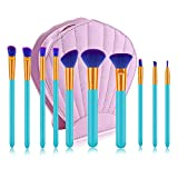 Cepillo Del Maquillaje De Maquillaje Profesional Artista Principiantes Practican Herramientas De Belleza De 10 PC Con El Paquete De Cepillo De La PU De La Cáscara