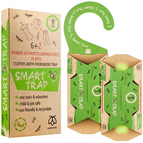 SMART Moth Trap, Clothes Moth Killer for Wardrobe, 6+2 Anti...