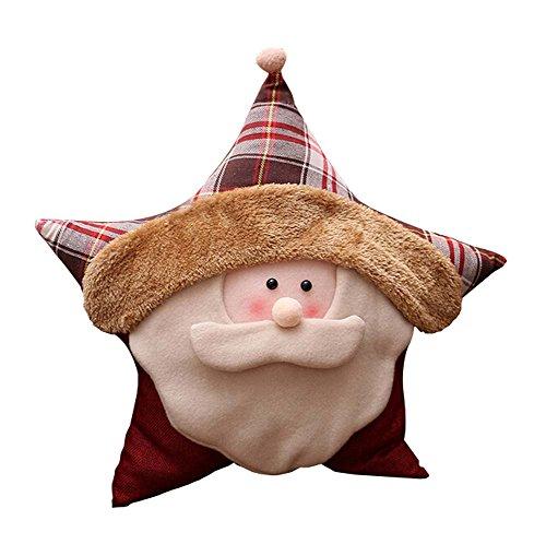 Blancho Lovely Linen Star Canapé-lit de Noël Home Decor Coussin d'oreiller, Grand-père