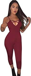 212f80943416 Sunward Women s Sexy Spaghetti Strap Bodycon Tank One Piece Jumpsuits  Rompers Playsuit