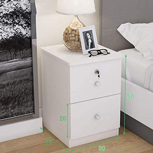KAYBELE Happyl 2 cajones Nightstand de Madera Mueble de alojamiento de Madera Moderno Mesa de Acabado Lateral Mesa de Acabado de la Cama para el Dormitorio para el hogar Sala (Color : Q)