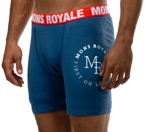 Mons Royale sous-vêtement Boxer pour Homme en Laine mérinos S Bleu - Bleu Encre