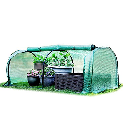 Worth Tragbares Mini-Gewächshaus 130 x 60 x 50 cm Gemüsepflanze Mini-Bogengewächshaus mit Abdeckung für Innen- oder Außenpflanzen