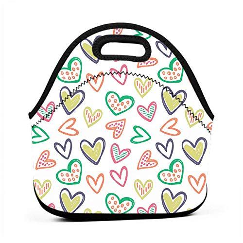 All Kinds of Hearts - Bolsa de almuerzo para guardar alimentos