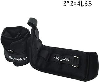 Boveker Ankle Wrist Weights (1-10 lbs/Pair) Adjustable Strap for Men, Women, Kids - Resistance Training, Jogging, Walking, Aerobics