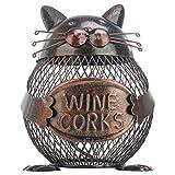 Tooarts 猫小銭ボックス 貯金箱 動物の置物 クリエイティブ 飾り アイアン アート飾り 手作り 内装 (1)