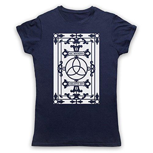 Death To Videodrome Dark Sic Mvndvs Creatvs Est Sic Mundus Creatus - Camiseta para mujer azul oscuro 42-44