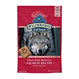 Blue Buffalo Wilderness Trail Treats High Protein Grain Free Crunchy Dog Treats Biscuits, Salmon Recipe 10-oz Bag