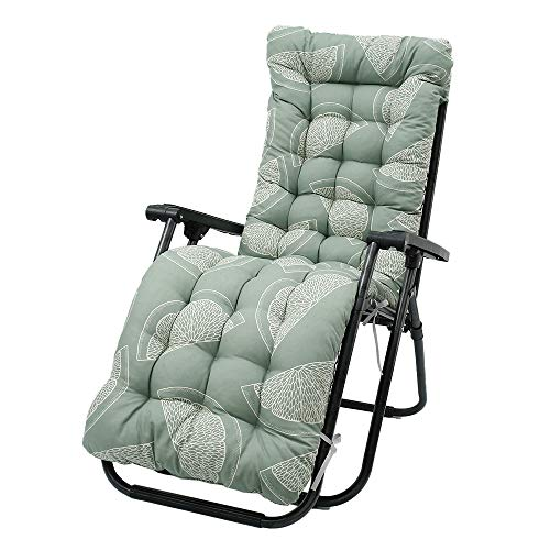 Sun Lounger Cushion Soft Garden Patio Recliner Lounge Pad Chair Cushion Seat Pad Sunbed Padded for Travel Holiday Garden Indoor Outdoor 170x53x8cm (Style C)