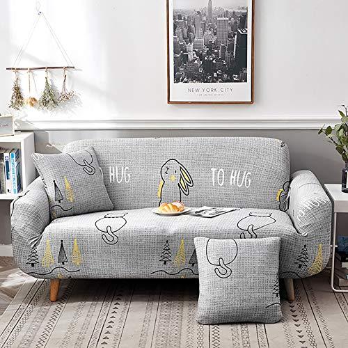 YB&GQ Impreso Elástica Cubiertas De Sofá para Sofá,Paquete 1 Plaza Funda De Sofá con Espuma Antideslizante,1 Piezas Fácil De Instalar Protector De Muebles Protector para Sofás-S Almohada