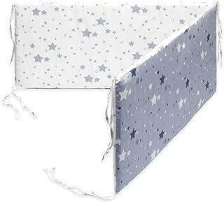 Bleu Marine//Bleu Ciel//Blanc YK.Hapyshop Tour de lit pour b/éb/é tress/é /à Long n/œud Protection Anti-Collision Multicolore Fait /à la Main Taille 150 x 15 x 10 cm