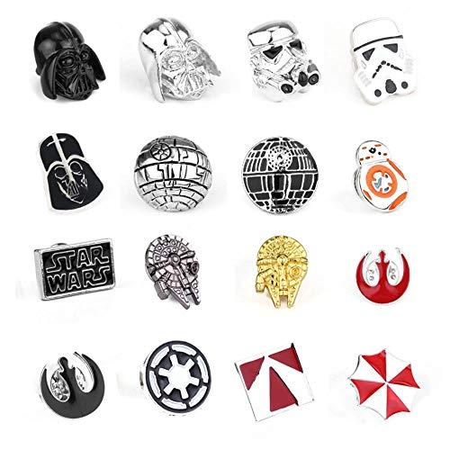 Unisex Brosche Pin Stormtrooper Darth Vader Rebel Alliance Falcon Abzeichen Anstecknadel Männer Frauen Film Schmuck-Rhodiniert