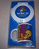 Tweety Bird Looney Tunes Hot Spot Set Beverage Warmer and Mug set