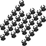 Bogoro Ventosas para Acuarios, 30 Piezas Acuario Clip, Ventosas de Calentador de Acuario, Acuario Calentador de Ventosas, Lechones Clips, Clip Calentador de Acuario, para Fish Tank(Negro)