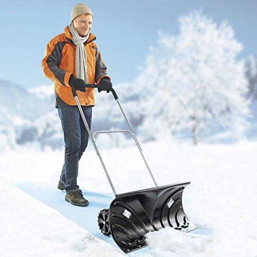 Profi-Schneeschieber, Schneeschaufel Schneeschippe Schaufel Schippe Schneeräumer Schnee Winter höhenverstellbar Karbonstahl