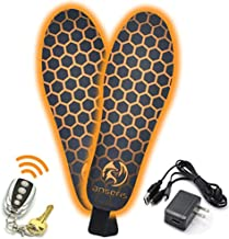 Outrek 2 Electric Heated Insoles- Rechargeable Battery, Remote Controlled, Foot Warmers Fit Men and Women Shoes and Boots for Hunting, Skiing, Work. Heavy Duty and Comfortable by Anseris (Medium)