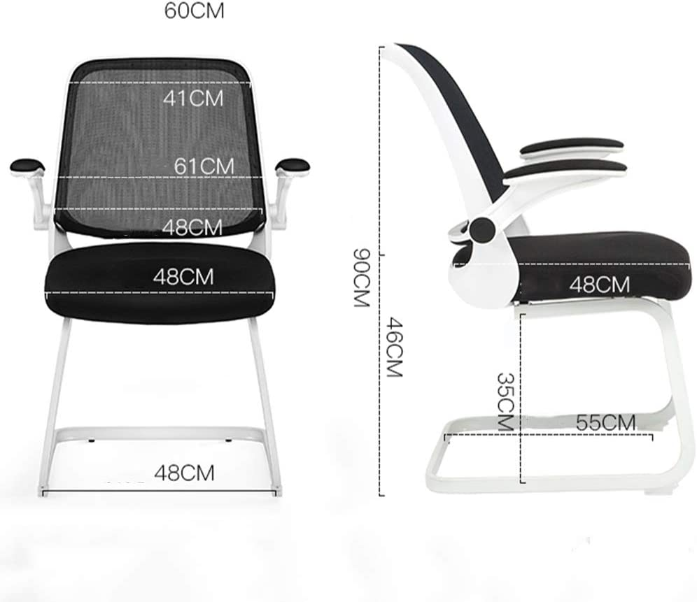 Tabouret de bar bureau pivotant Chaise confortable télésiège informatique sédentaire maison bureau chaise moderne d'écriture minimaliste ZHAOFENGE (Color : Gray) Gray