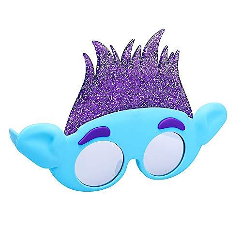 Sun-Staches Gafas de sol con licencia oficial de Trolls Branch para disfraz, novedad para fiestas, sombras UV400, multicolor, talla nica (SG3737)