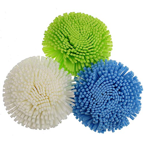 Sanixa GP02751 Lot de 3 éponges de bain Multicolore 10 cm