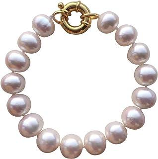 Pulsera de perlas de agua dulce blancas