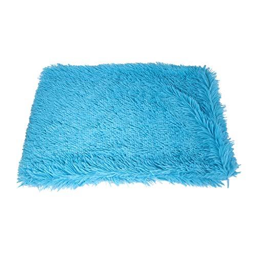 Fenteer Perros Manta para Dormir Nest Cage Cojín De Felpa Cómodo Kennel Mat 41'x35 - Cielo Azul, El 105x90cm