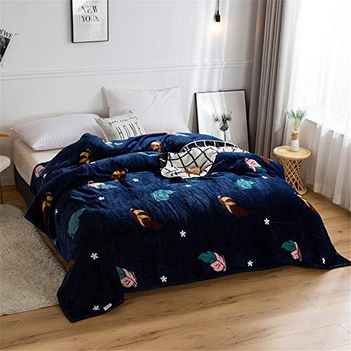 YUNSW Winter Dicke Warme Und Weiche Und Bequeme Decke Einfarbig Flanell Nickerchen Decke Single Double Cover Decke Heimtextilien