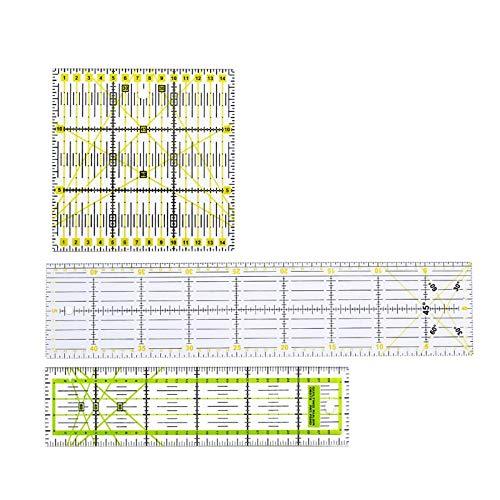 LITOSM Reglas Patchwork 3 UNIDS/Set Clear SQUILTOR DE Camino RULINGS MATCHWORK Costura RÁPERIO Corte Herramienta DE Corte Cabra Bricolaje