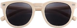 نظارات شمسية كلاسيكية بإطار بلاستيكي دائري كلاسيكي للنساء عدسات مستقطبة حماية UV400 من Kelens