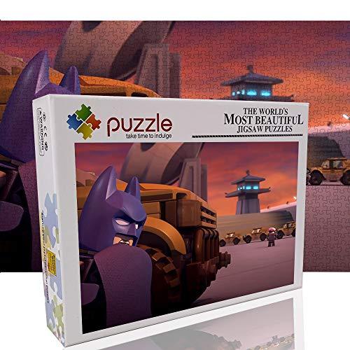 Batman 1000 Piezas de Rompecabezas para Adultos o niños Juguetes de Lego Juegos educativos Rompecabezas Juego para Padres e Hijos 1000 Piezas Rompecabezas 70x50cm