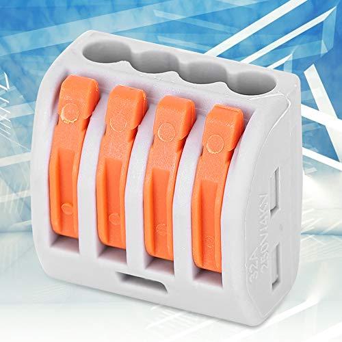10 piezas de conexión rápida de 4 vías PCT-214 conectores terminales Cable...
