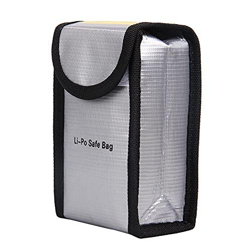 skrskr Bolsa a prueba de explosiones ignífuga de la batería lipo a prueba de calor Bolsa para bolsa resistente al calor para DJI Phantom 3 Batería, carga y almacenamiento 140 * 90 * 55mm