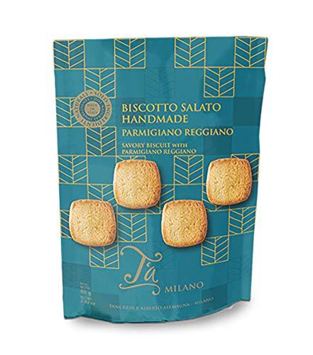 Zout koekjes Parmesian Reggiano DOP, Crackers Gourmet – 80 g (4 stuks)