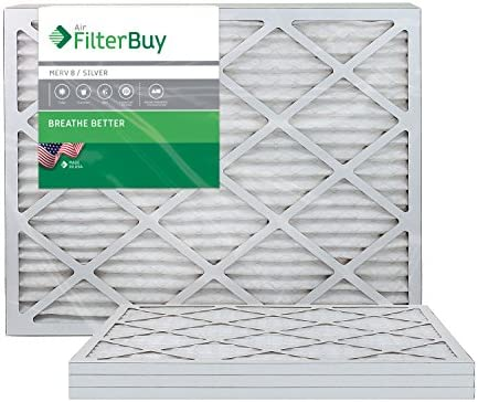 FilterBuy 20x23x1 MERV 8 Pleated AC Furnace Air Filter Pack of 4 Filters 20x23x1 Silver product image