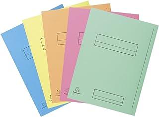 Exacompta 335000E Paquet de 50 Chemises à Rabat latéral format 24 x32 pour classement de document A4 Cadre d'ndexage Carte...