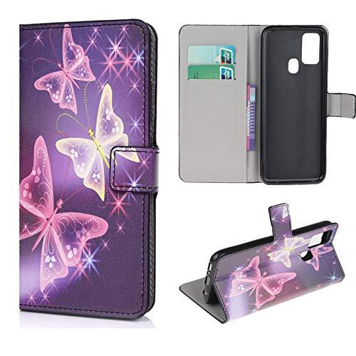 Vogu'SaNa Funda para teléfono móvil Samsung Galaxy A21S, funda tipo cartera, de piel sintética,...