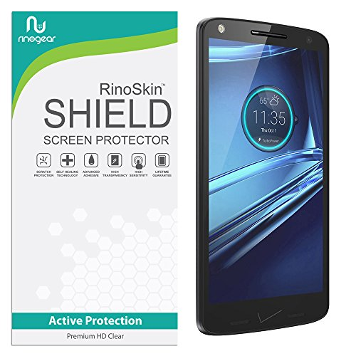 Motorola Droid Turbo 2 (2015) Screen Protector RinoGear Case Friendly Screen Protector for Motorola Droid Turbo 2 Accessory Full Coverage Clear Film
