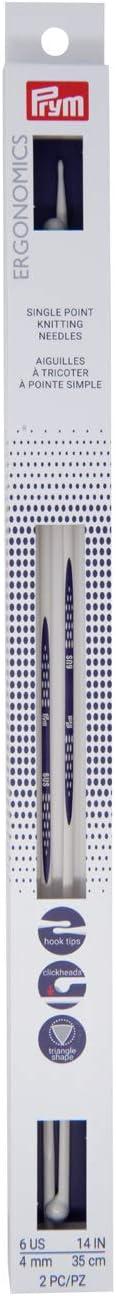 Safety and trust Prym Ergonomics 14-Inch Single-Point Knitting Needle 6 Large-scale sale Size 2-