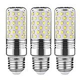 Gezee円柱電球、LEDデイライトホワイトe26ベース、15ワット、120V、6000K、1350lumens、360度ビーム角度、非調光( 3パック) ホワイト 20/GTQ15W/E26/3P