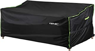 AWNIC Outdoor Sofa Covers Waterproof Patio 2 Seat Couch Covers Garden Chaise Lounge Covers UV Resistant 420D Polyester Ger...