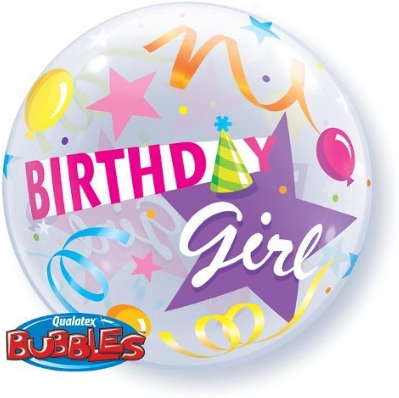 barato y de moda Happy Birthday Girl Hat 22  Qualatex Bubble Balloon Balloon Balloon by Qualatex  toma