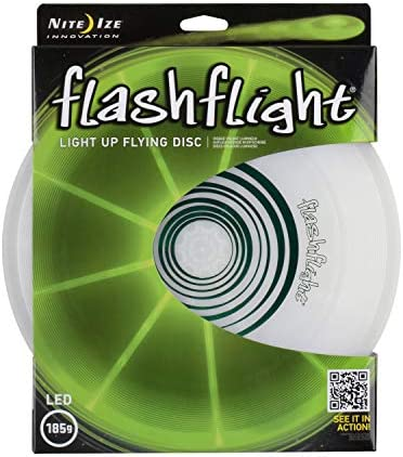 Nite Ize Flashflight LED Light Up Flying Disc, Glow in The Dark for Night Games