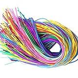 Feelairy 120 Pezzi Nastri Scobydoo Neon, Corda Intrecciata di Plastica Corde Artigianali Scoubidou in 12 Colori Strisce di Nastro Annodatura Corda di Nastro per Creazione Gioielli Fai da Te