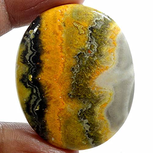 Dazzlegems 67.75 Cts. Natural Bumble Bee Gemstone Wholesale Cabochons , Jewelry Making Loose Gemstone, Polished Home Decor Specimen, DIY, Wire Wrapping, Reiki, Healing Crystals, Bulk Gemstone Deal