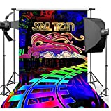 Iselezm Polyester 300X200Cm Photography Background Soul Train Photo Booth Props Party Decorations Disco Birthday Banner Photo Backdrop Tv Dance Backdrop