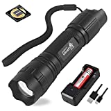 UltraFire 940nm LED IR Flashlight,Adjustable Focus Infrared Night Vision Light,Stepless Dimming Hunting IR Illuminator For Night Vision Devices,with 1PCS 2600mAh Rechargeable battery and USB charger